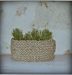 Panier tricotés en ficelle
