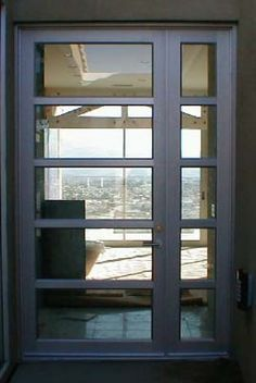 Model: BP-Entry Door with sidelite   Size: 3'6″ x 5'10″ Frame: Clear Anodized Aluminum Glass: 1/4 Lami Transparent Clear Location: Desert Hot Springs, Ca 92240