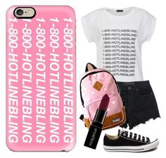 """""""Hotline Bling"""" by brianna-bae on Polyvore featuring beauty, Casetify, Ally Fashion, T By Alexander Wang, Converse and Smashbox"""