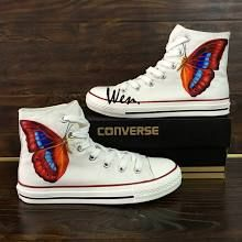 Butterfly Converse Shoes -