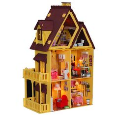 Architecture/diy House/mininatures 1pc Kids Castle Model Miniature Educational Crafting Diy Assembly Mini Villa Gifts Kits Toy Artwork For Gift Toy Kids Making Things Convenient For Customers Model Building
