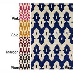 nuLOOM Handmade Modern Ikat Trellis Wool Rug (5' x 8')