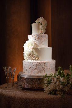 Elegant cake: http://www.stylemepretty.com/2015/03/18/glamorous-san-franscisco-wedding-at-the-legion-of-honor/ | Photography: Gia Canali - http://giacanali.com/wordpress/