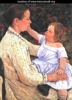 The Childs Caress - Mary Cassatt - www.marycassatt.org