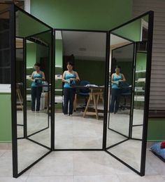 Made a 3 way/ trifold Mirror on the cheap! So easy! | Ashlee\'s room ...