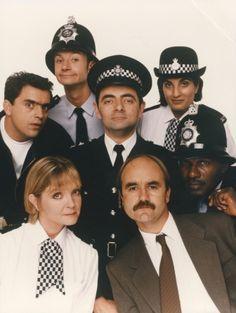 The Thin Blue Line (1995–1996) British Tv Comedies, British Comedy, British Actors, British History, Comedy Actors, Comedy Show, Vintage Tv, Vintage Movies, Rowan Sebastian Atkinson