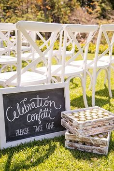 White Rectangular Blackboard Signage | Lovebird Weddings