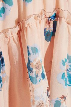 Ulla Johnson - Valentine Ruffled Floral-print Silk-georgette Dress - Beige - US10