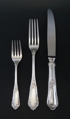"""Gothic by Dominick /& Haff Sterling Silver Salad Fork 5 3//4/"""""""