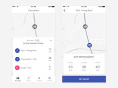 Dribbble - Public Bus Tracker App by Riska Fadilla Tracking App, Mobile Ui Design, Mobile App Ui, Map Design, Cartography, Interactive Design, Transportation, Public, Apps