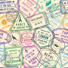 Find Vector Seamless Pattern Travel Illustrations Stamps stock images in HD and millions of other royalty-free stock photos, illustrations and vectors in the Shutterstock collection. Vector Pattern, Pattern Art, Wallpapers Tumblr, Travel Illustration, Digital Scrapbook Paper, Vintage Stamps, Vintage Typography, Background Patterns, Just For You