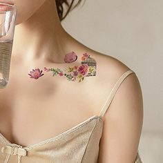 TAFLY Small Flower 3D Temporary Tattoos Sexy Waterproof Women Tattoos 5 Sheets * For more information, visit image link. (This is an affiliate link and I receive a commission for the sales) #TemporaryTattoos