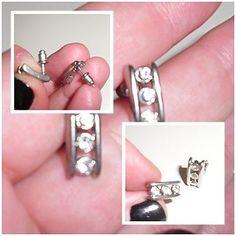Damen #Ohrringe - #Modeschmuck Stecker/ #Silber /Steine | #eBay