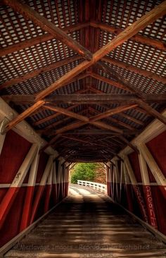 Covered bridge - so cool from inside!
