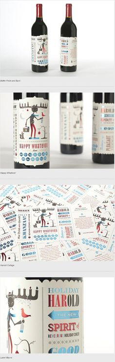Holiday Harold Wine Promo Editorial Design #wine #branding #design