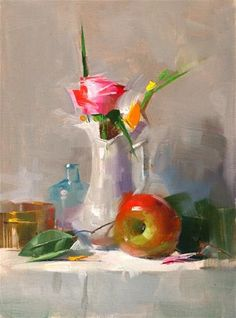 """Daily Paintworks - """"Bright Texas Light"""" - Original Fine Art for Sale - © Qiang Huang Figurative Kunst, Still Life Oil Painting, Light Painting, Daily Painters, Fruit Painting, Still Life Art, Arte Floral, Fine Art Gallery, Beautiful Paintings"""