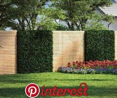 Build Fence & Privacy Protection yourself OBI garden planner- Zaun & Sichtschutz selber bauen Garden Fence Panels, Garden Fencing, Backyard Fences, Backyard Landscaping, Fence Screening, Garden Planner, Walled Garden, Modern Garden Design, Fence Design