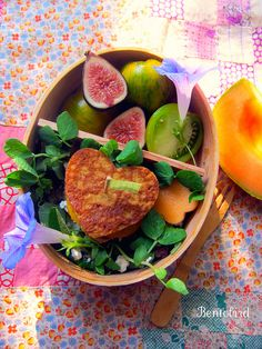 country breakfast bento by Bentobird  fresh figs and country sausage sammie