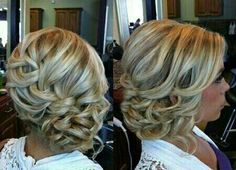 Cant wait to have my hair done like this for Hannahs wedding!