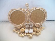 Vintage FLORENZA Gold Tone Picture Frame with by ALEXLITTLETHINGS, $43.00