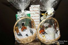 My raffle baskets among other raffle gifts at Cigars & Stilettos V