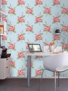 estampa zelda papel de parede no escritorio