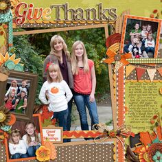 Autumn Fun - Give Thanks by Jady Day Studio  Cindy's Layered Templates - Half Pack 58: Photo Focus 20 by Cindy Schneider  DJB Fancy Nancy by Darcy Baldwin