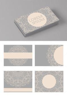 Card set with mandala logo
