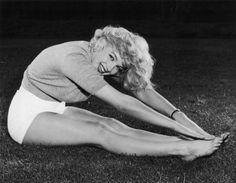 Rare Photos Prove Marilyn Monroe Was A Yoga Badass