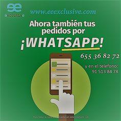 ¡Nos adaptamos a ti! Por eso, a partir de hoy puedes realizar todos tus pedidos a través de whatsapp o por telefono, asi de fácil, rápido y cómodo, guárdanos en tu agenda del móvil y contáctanos para tus pedidos en >> Whatsapp 655 36 82 72 y en el telefono 91 513 84 78