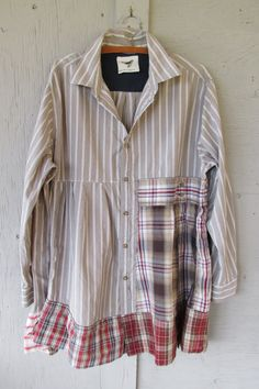 1 X 2 X 3 X upcycled tunic dress / oversize by lillienoradrygoods