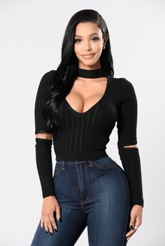 - Available In Black And Mauve - Choker - V Neck - Elbow Cutouts - Keyhole Back - Cropped - Ribbed - Made In USA - 94% Rayon 6% Spandex
