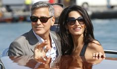 Here's what Amal Clooney bought George Clooney for his birthday George Clooney Amal Alamuddin, George Clooney Wedding, Hollywood Stars, Hollywood Couples, Cindy Crawford, Kim Kardashian And North, Luxury Lifestyle Fashion, Star Wars, Civil Ceremony