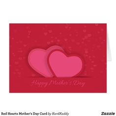 Red Hearts Mother's Day Card