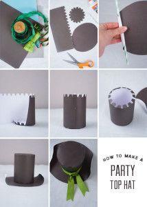 Como hacer un sombrero de copa de papel 2