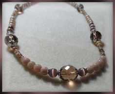 Brown and Tan Cats Eye Necklace