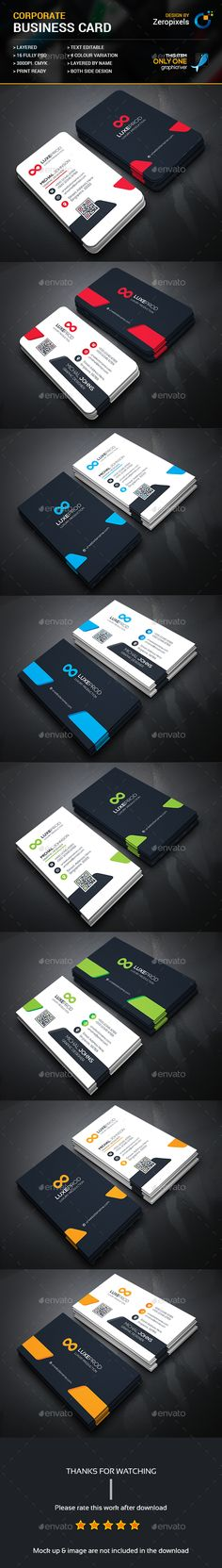 Modern Business Card Bundle - #Business Cards Print Templates Download here: https://graphicriver.net/item/modern-business-card-bundle/17126335? reff=Classicdesignp