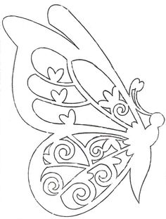 Papercutting Mariposa Butterfly Stencil Template Shape Pattern Crafts Paper Cutting Patterns