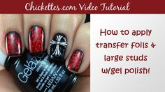 How to Apply Transfer Foils & Large Studs with Gel Polish