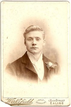 Portrait of young man by Wakefield, Ealing, early 1900s cabinet card by whatsthatpicture, via Flickr