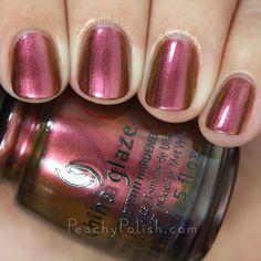 China Glaze Cabin Fever   Fall 2015 The Great Outdoors Collection   Peachy Polish