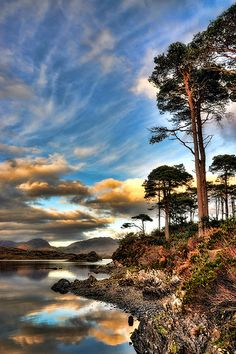 Autumn in Derryclare (by Robert Riddell) Co Galway, Ireland.