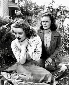 """Bette Davis and Geraldine Fitzgerald In """"DARK VICTORY"""" (Warner Brothers, 1939)"""