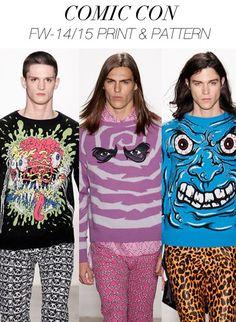 Comic Prints | A/W 14/15 #fashion #trend forecast #menswear
