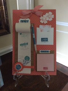Little organizer using one of my Paper Pumpkin kits and a few other Stampin' Up! stamps, paper, and tools.