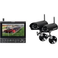 Security Man DigiLCDDVR4 7LCD DVR Security System W/ 4 Wireless Digital Cameras