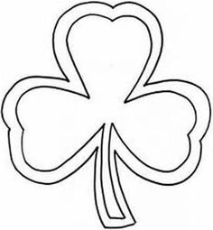 Large Shamrock Craft Template  Storytime    Template