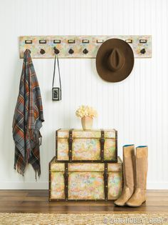 Customize your space for fall with rolled paper! It's as simple as securing the paper with spray adhesive.