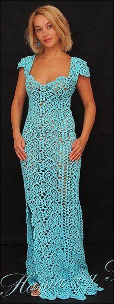Patrones de vestidos de fiesta a crochet