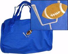 Football Thru Goal Post Duffel Bag + Name Monogram Custom Embroidered Coach  Gift. Bag NamesDuffle BagsCoach ... b9c5a66e38c5e